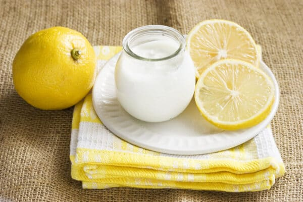 Homemade Lemon Peel with Yoghurt